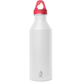 MIZU M8 Bottle with Red Loop Cap 800ml Surf Monkey White